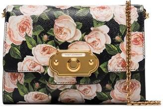Dolce & Gabbana multicoloured roses vintage clasp mini bag