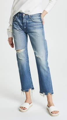 Moussy VINTAGE MV Leola Cropped Straight Jeans