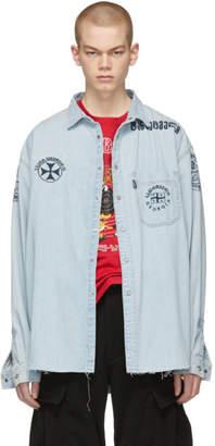 Vetements Blue Levis Edition Denim Western Shirt