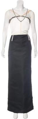 St. John Beaded Maxi Dress