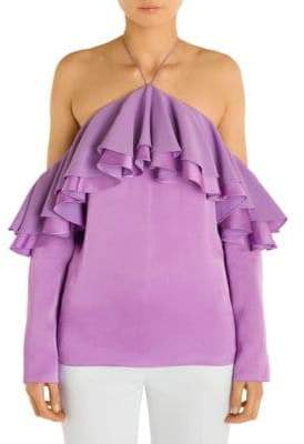 Emilio Pucci Off-The-Shoulder Ruffle Blouse