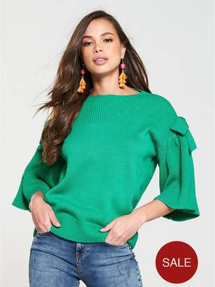 Very Bow Sleeve Jumper - Green
