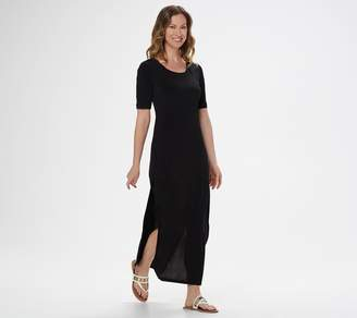 G.I.L.I. Got It Love It G.I.L.I. Petite Short-Sleeve Side Slit Maxi Dress