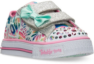 Skechers Toddler Girls' Twinkle Toes: Shuffles - Baby Love Light-Up Sneakers from Finish Line $49.99 thestylecure.com