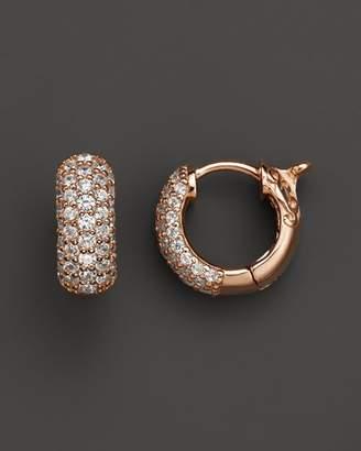 Bloomingdale's Diamond Pavé Huggie Hoop Earrings 14K Rose Gold, .85 ct. t.w. - 100% Exclusive