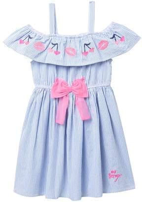 Betsey Johnson Off-the-Shoulder Seersucker Dress (Big Girls)