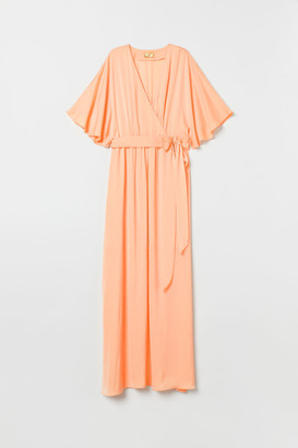 H&M Long Satin Dress - Orange
