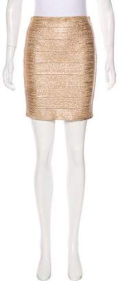 Haute Hippie Metallic Bandage Skirt w/ Tags