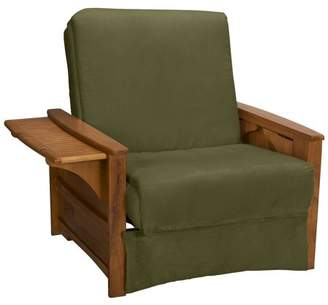 Comfort Style Bayview Perfect Sit & Sleep Pocketed Coil InnerSpring Pillow Top Chair Sleeper Child Bed, Chair, Medium Oak, Suede Khaki