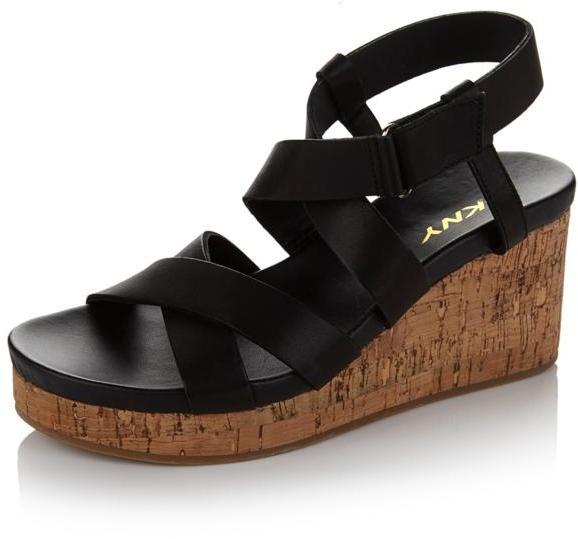 "DKNY DKNY Active ""Lani"" Strappy Leather Cork Wedge"
