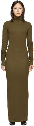 Lemaire Brown Long Turtleneck Dress
