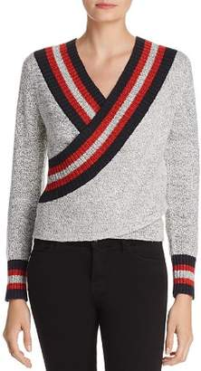 C/Meo Collective Faux-Wrap Sweater