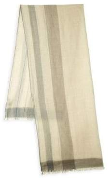 Salvatore Ferragamo Frayed Edge Scarf