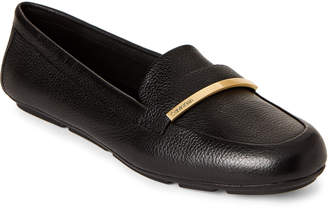 Calvin Klein Black Lilliana Leather Loafers