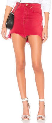 One Teaspoon Vanguard High Waist Denim Skirt.