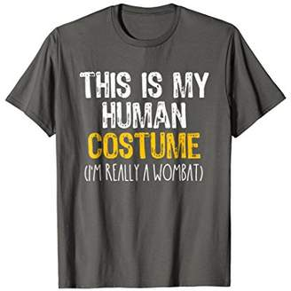 This Is My Human Costume Wombat Halloween Funny T-shirt