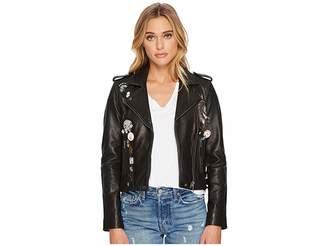 Lucky Brand Pin Moto Jacket Women's Coat