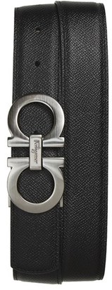 Men's Salvatore Ferragamo Reversible Double Gancini Calfskin Leather Belt $395 thestylecure.com