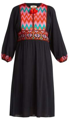 Figue Violeta Embroidered Dress - Womens - Navy Multi