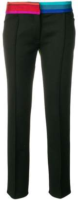 Marco De Vincenzo contrast band slim-fit trousers