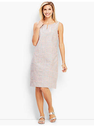 Talbots Patchwork Shift Dress