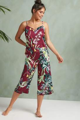 64caf1c62b75 Next Womens Berry Floral Culotte Jumpsuit - Purple