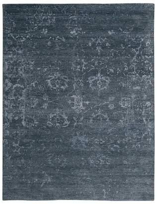 "Nourison Silk Shadows Rug - Abstract Blue Stone, 3'9"" x 5'9"""