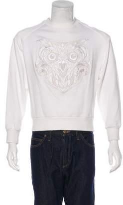 Juun.J Embroidered Cropped Sweatshirt