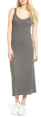 Women's Hinge Ribbed Midi Dress $59 thestylecure.com