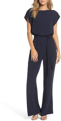 Eliza J Cap Sleeve Wide Leg Jumpsuit