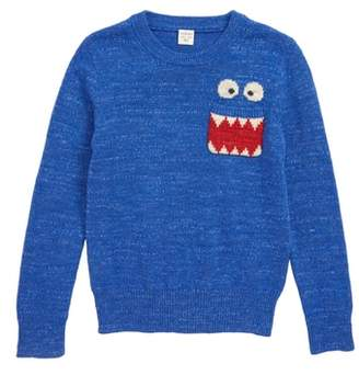 J.Crew crewcuts by Max the Monster(TM) Cotton Crewneck Sweater