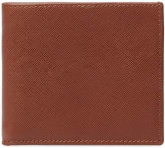 DeSanto Men's Saffiano Leather Short Bifold Wallet