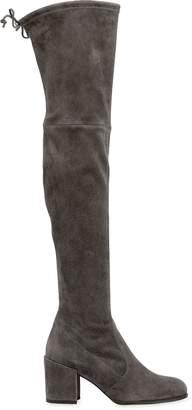 Stuart Weitzman 65mm Tieland Stretch Suede Boots