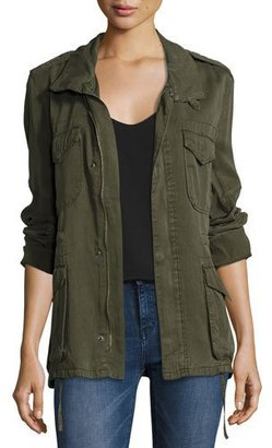 Etienne Marcel Utility Zip-Front Army Jacket, Green $308 thestylecure.com