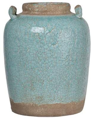 A&B Home Candia Ceramic Vase, Pale Turquoise