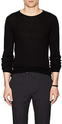 John Varvatos Men's Lattice-Detail Wool-Linen Sweater