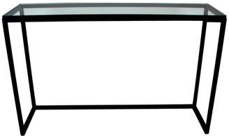 clear R & V Living Jose Console Black With Glass