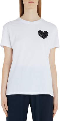 Valentino Embroidered Heart Cotton Tee