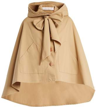 See by Chloe Tie-front hooded cape