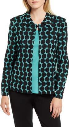 Ming Wang Dot Knit Jacket