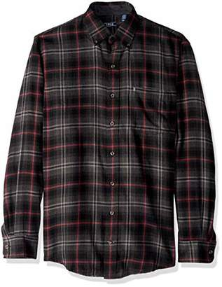 Izod Men's Big and Tall Flannel Long Sleeve Shirt