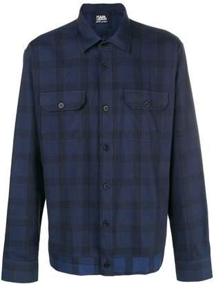 Karl Lagerfeld Sebastien plaid shirt
