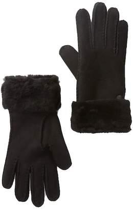 UGG Genuine Sheepskin Suede Turn Cuff Gloves
