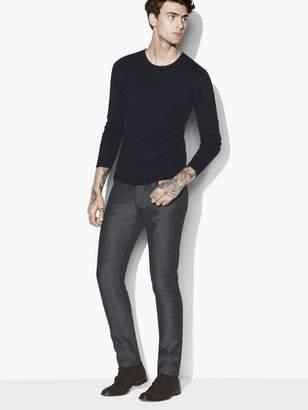 John Varvatos Mulberry Silk Crewneck Sweater