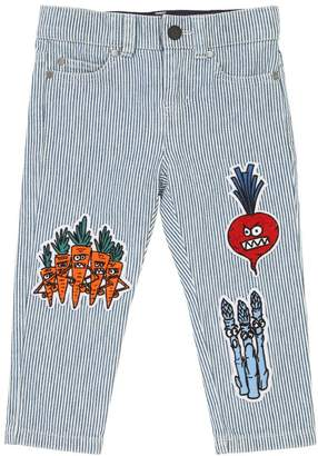 Stella McCartney Stretch Cotton Denim Jeans W/ Patches