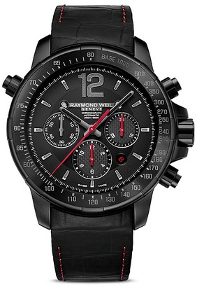 Raymond Weil Nabucco Automatic Chronograph Watch, 46mm $5,550 thestylecure.com