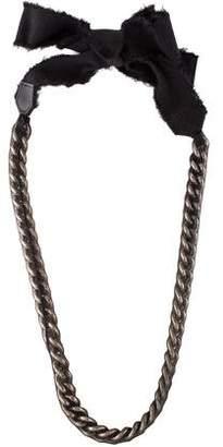 Giambattista Valli Silk Curb Chain Necklace