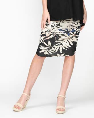 Mila Louise Gathered Pencil Skirt