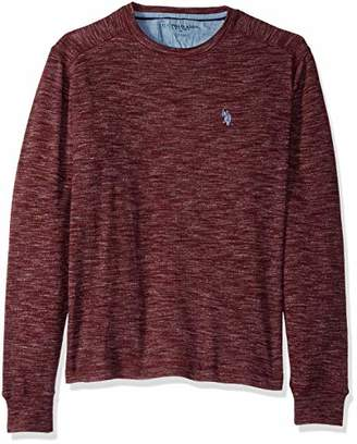 U.S. Polo Assn. Men's Spece Dye Crew Neck Thermal Shirt