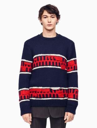 Calvin Klein graphic stripe intarsia knit pullover